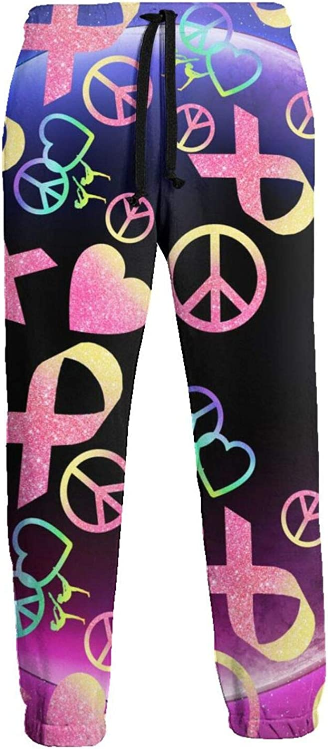 Cey99P-A Mens Bombing free shipping Breast Cancer Awareness Close Sweatpants Austin Mall Jogger B