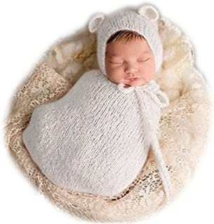 Vemonllas Fashion Newborn Boy Girl Baby Costume Knitted Photography Props Hat Sleeping Bag