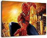 Spiderman Format 100x70 cm Bild auf Leinwand, XXL riesige
