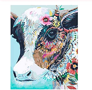 Classic Jigsaw Puzzle 1000 Pieces Adults Puzzle Colored Flower Cow DIY Art Picture Wooden Puzzle Home Decor Creative Gift 75X50Cm