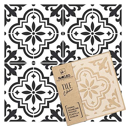 VALETTA Wiederverwendbare Kunststoff-Schablone Fliese / / Marokkanische Geometrische / / Boden Wand (20x20cm)
