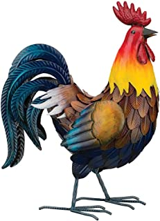 Regal Art & Gift Nepali 13.75 inches x 7 inches 18.5 inches Metal Rooster Decor - Lawn and Garden Statuary