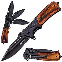 Pocket Knife Spring Assisted Folding Knives - Military EDC USMC Tactical Jack Knifes - Best Camping Hunting Fishing Hiking...
