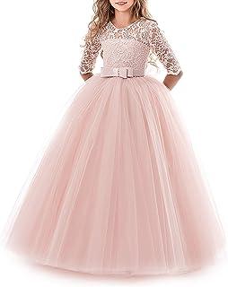 TTYAOVO Niñas Muestran Princesa Vestido de Flores Baile Puffy de Vestido de Niñas Flor Partido Vestido De Princesa Cumplea...
