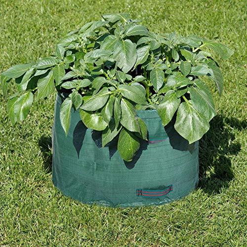 Best Bargain AloPW Yard Waste Bags 63 Gallons Large Garden Bag Grow Bag Reusable Garden Waste Bag fo...