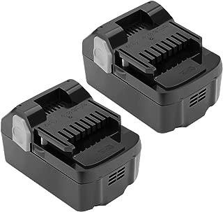 Shentec 2 Pack 4000mAh 18V Battery Compatible with Hitachi 330139 BSL1815X 339782 BSL1830C BSL1815S BSL1830 330557, 18V Li-ion Slide Style Battery