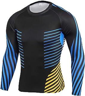 Men's Muscle Fit Long Sleeve T Shirt Blue