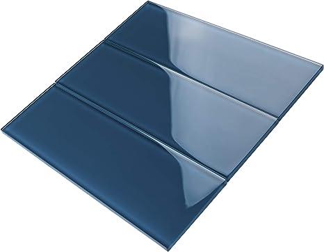 Amazon Com Tcsbg 15 Turquoise Blue 4x12 Glass Subway Tile Kitchen And Bathroom Backsplash Tile Wall Tile 1sqt Home Kitchen