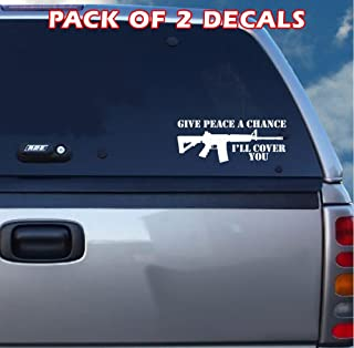 AR15 - Give Peace a Chance Decal