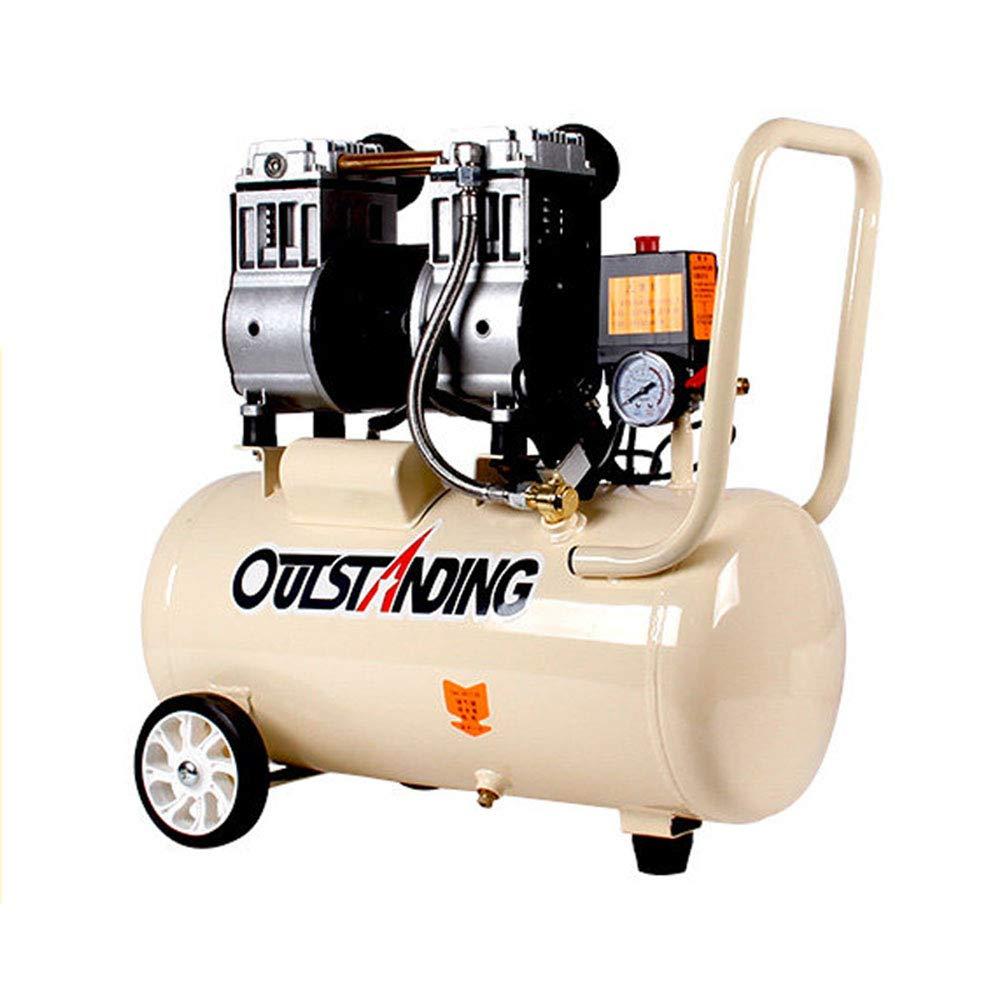 compresor de Aire silencioso Bomba de Aire pequeño sin Aceite carpintería Aire 980w-30L: Amazon.es: Hogar