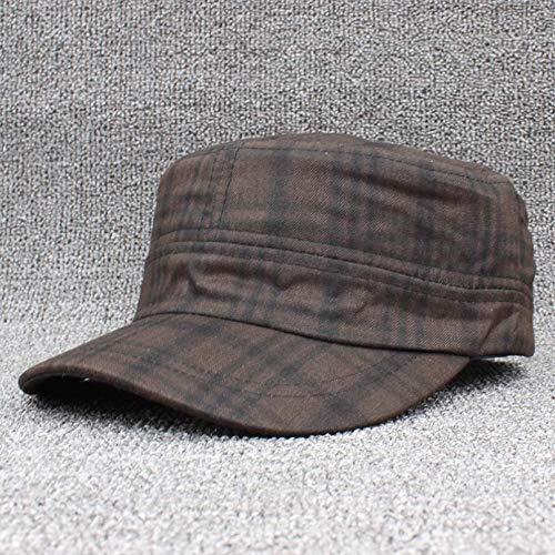 CHENGWJ Baseball-Kappe, klassisch, Vintage, Damen, modisch, Herbst, Winter, warm, kariert, verstellbar, flache Oberseite, für Herren