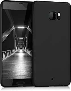 kwmobile TPU Silicone Case for HTC U Ultra - Soft Flexible Shock Absorbent Protective Phone Cover - Black Matte