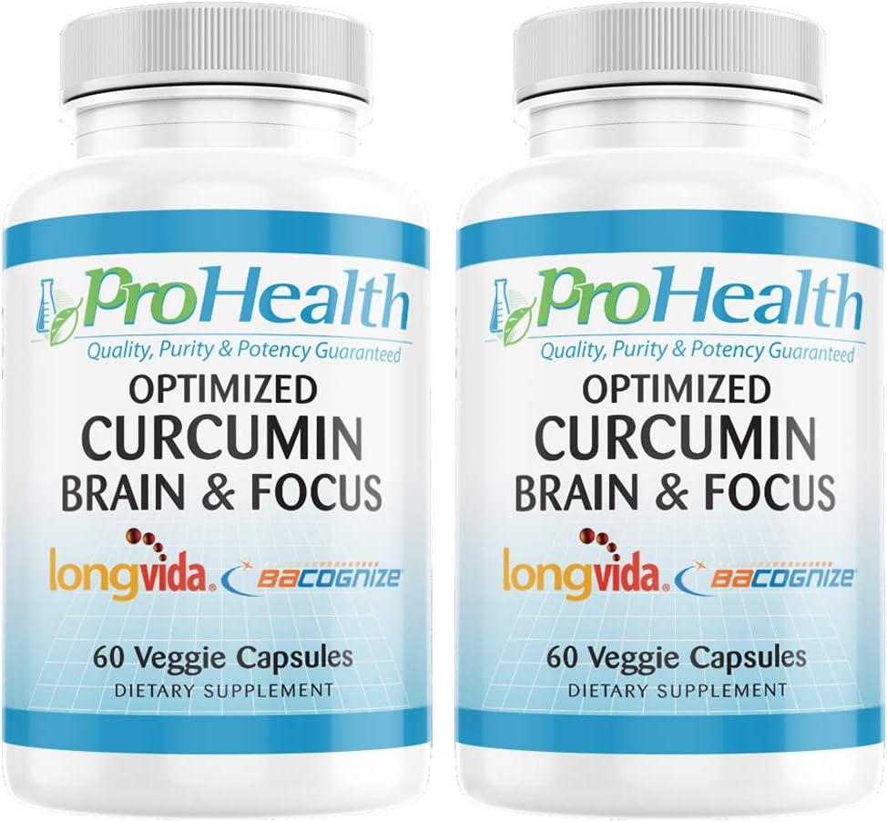 2-Pack Max Max 89% OFF 48% OFF Brain Focus - Optimized BaCogniz Curcumin Longvida with