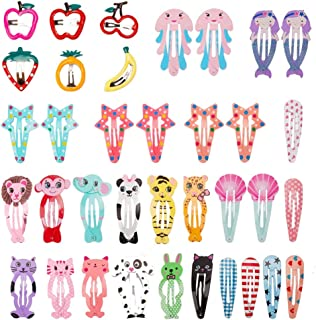 Sufermoe 36 pcs Hair Clips Animal printed pattern Hairpins Non-slip Hair Barrettes Hair Accessories for Dogs