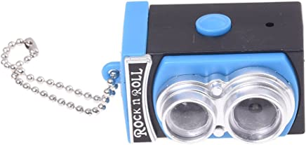 1 X LOCOMO Cute Mini Double Twin Lens Reflex TLR Camera Style LED Flash Light Torch Shutter Sound Keychain