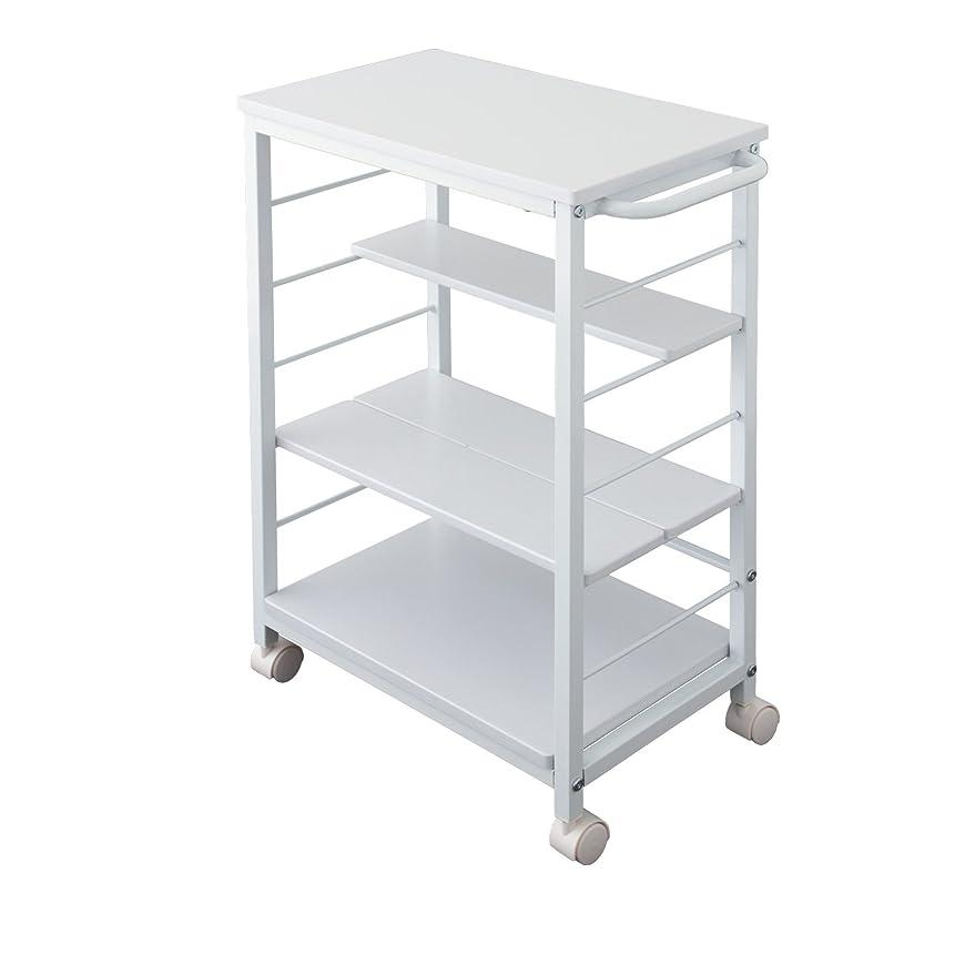 クラスポルティコケイ素棚位置自在 キャスター付き キッチンワゴン KW-0930 30cm 隙間収納 収納 キッチンカウンター (ホワイト)