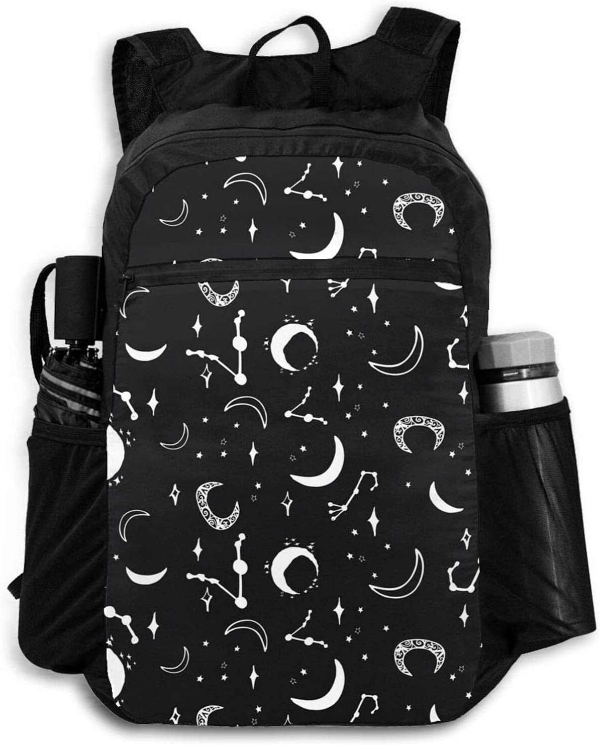 Popular Zolama Magic Moon Star Black Backpacks Cute Packab Women Ranking TOP19 Men for