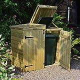 Rowlinson BINLRGA2 Apex Bin Store, Natural, 153x81x130 cm