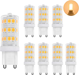 Zhzai G9 LED 3.5w Non-dimmable Non-Flicker 35w Halogen Equivalent 350LM AC110V Ceramic Base LED Bulb R80 Bi-Pin Warm White 3000k Pack of 8