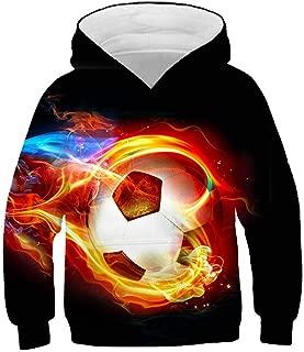 ULIIM Kinder 3D Hoodies Super Fu/ßballstars CR7 3D Print Hoodie Sweatshirt L/ässige Pullover Jacke Mantel