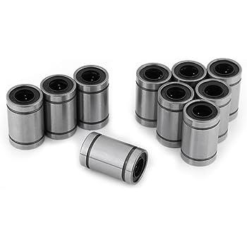 10pcs LM12UU 12mm Roulement /À Billes Lin/éaire Douille Double Scell/é pour Rod 3D Imprimante CNC Pi/èces