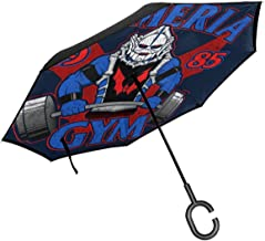 Hordak Etheria Gym She Ra Double Layer Inverted Umbrella For Car Reverse Folding Upside Down C-Shaped Hands - Lightweight & Windproof – Ideal Gift
