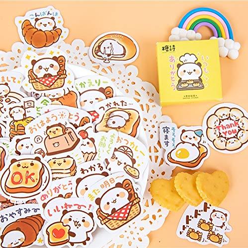 ZZHH 45 Pcs/Lot Panda Pastry Chef Paper Sticker Decorative Diary Scrapbook Planner Stickers Kawaii Stationery School Supplies