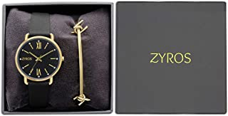 ZYROS Wrist Watch set for Women with Bracelet, Leather, SZAU001L010202