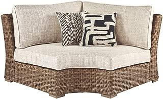 Signature Design by Ashley P791-851 Beach Croft Patio Corner Chair, Beige