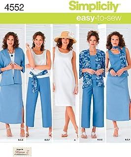 comprar comparacion Simplicity 4552 AA - Patrones de Costura para Ropa de Mujer (Tallas Grandes)