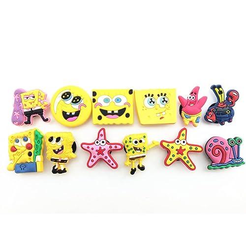 76c1a076cdc4d2 12pcs Spongebob Squarepants Shoe Charms Fits Croc Shoes   Wristband Bracelet