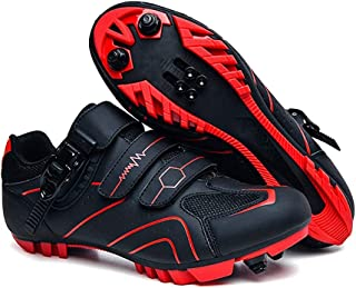 Men's MTB Cycling Shoes Outdoor Sport Bicycle Shoes Self-Locking Professional Racing Road Bike Shoes Mountain Bike Shoe Spin Shoes Sports Shoes