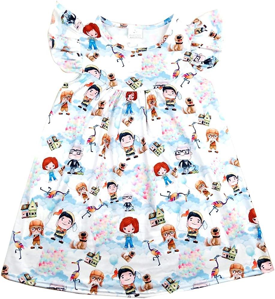 Ivy & Clover Boutique Girls Flutter Sleeve Dress -Princess Parade