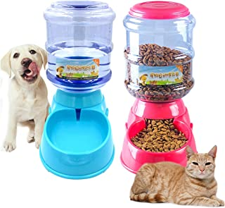 SOCHII 3.5L Plastic Dog Cat Feeder Fountain Pet Automatic Food Bowl Dog Water Bottle Dispenser Drinking for Dogs Automatic Pet Drinkers