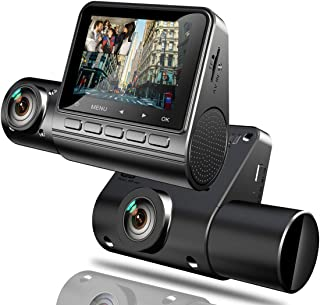YDI Dual Dashcam Auto Kamera, FHD 1080P Weitwinkelkamera Vorne und Innen mit 24 Stunden Parkmonitor, Bewegungserkennung, G Sensor, WDR und IR Nachtsicht