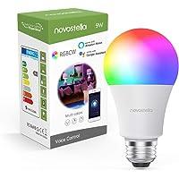 Novostella Smart A19 E26 9W (75W Equivalent) WiFi LED RGBCW Multi-Color Light Bulb