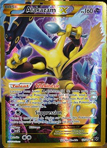 carte Pokémon 125/124 Alakazam EX 160 PV - SECRETE FULL ART XY - Impact des Destins