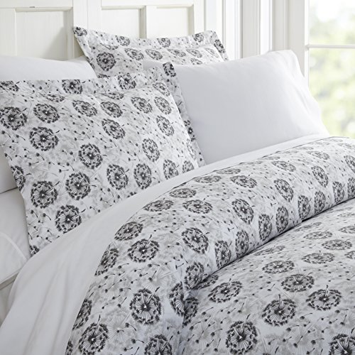 ienjoy Home Duvet Cover Set Make A Wish Patterned TwinGray