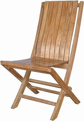 Anderson Teak Comfort Folding Chair, Henna