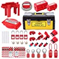 Lockout Tagout Kit - Lockout Set Safety Padlocks Lockout Hasp Breaker Lockout Ball Valve Lockout Steel Cable Lockout Plug Loto Valve Lockout Loto Tags Lock Out Tag Out by Zbshopkeeper