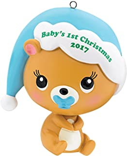 Carlton Heirloom Ornament 2017 Baby's First Christmas - Boys - #CXOR008M
