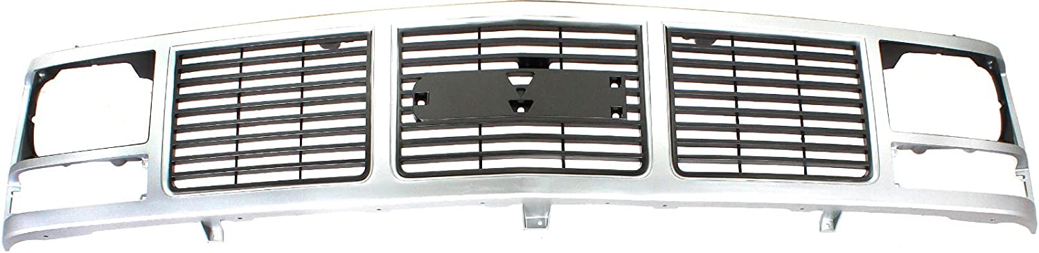 for GMC C K Series 88-93 Grille Same day 40% OFF Cheap Sale shipping Sing Silver w Shell and Insert