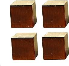 4X massief houten meubelpoten, vierkante bankpoten, vervangende poten, bureaupoten, liftmeubelverhogers, voegt hoogte toe ...