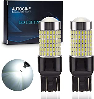 AUTOGINE 1400 Lumens Extremely Bright 144-SMD 7443 7440 7441 7444 W21W LED Bulbs 9-30V with Projector for Backup Reverse Lights, Parking Lights, Tail Brake Lights, Xenon White 6500K (Pack of 2)