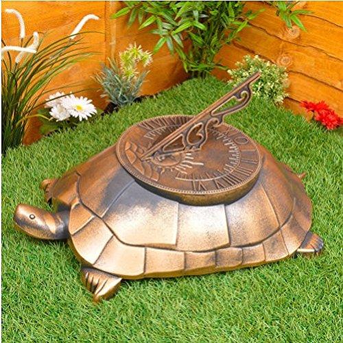 Tortuga reloj de jardín adorno de grande ligero novedad decoración/jardinería jardín Patio cosas artículos Gadgets
