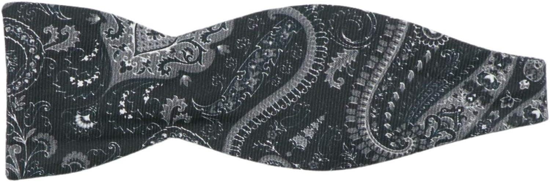 Edward Armah Men's Silk Paisley Hook Bow Tie