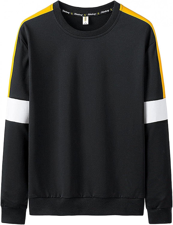 Sweatshirts for Men,Casual Long Sleeve Crewneck Sweatshirt Sport Pullover T-shirt Blend Sweatshirts Hoodie Top
