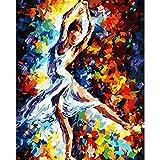 Pintura Digital DIY Abstracto Bailarina Figura Lienzo decoración de la Boda Imagen de Arte Regalo 40X50 cm sin Marco