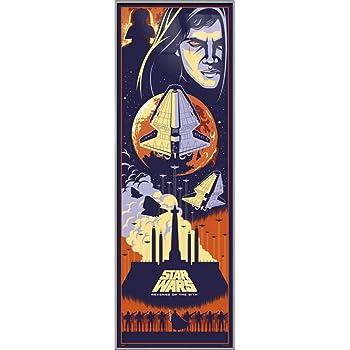 Amazon Com Star Wars Episode Iii Revenge Of The Sith Framed Door Movie Poster Anakin Skywalker Darth Vader Pop Art Design Size 21 X 62 Inches Kitchen Dining