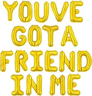 18 inch Gold You've Got A Friend In Me Banner Friends Inspired You've Got a Friend In Me Matching Toy Story , Toy Story Bi...